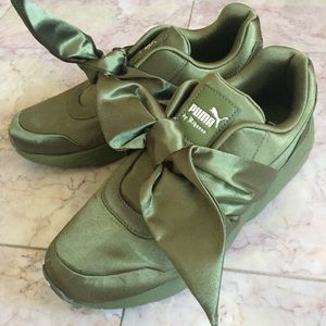 Rihanna FentyxPuma Olive Branch Bow Sneaker Shoes